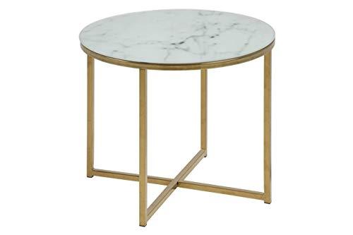 Amazon Brand - Movian Rom - Tavolo da lampada, 50 x 50 x 42 cm, bianco