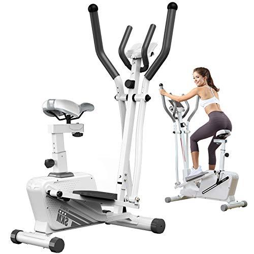 ATGTAOS Macchine Ellittiche Cyclette, Macchina Ellittica, con Monitor LCD e Resistenza a 16 Livelli Liscia, per Esercizi Cardio da Palestra in Ufficio a Casa