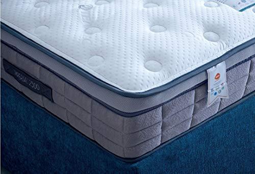 Baker & Wells Imperial 2500 - Materasso in memory foam con infuso a molle insacchettate, profondità 27,9 cm, per letto matrimoniale piccolo (1,2 m x 6 ft3))