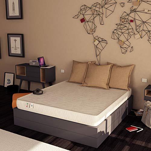 Baldiflex Emporio Easy Materasso, in Memory Water Foam, Cotone Ortopedico, Poliuretano, Bianco, 140 x 190 x 18 cm