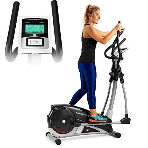 BH Fitness LIGHTFIT 1030 G2336RF - Biciclette ellittica - Magnetica - Rilevazione palmarre delle pulsazioni - Volano da 10 kg - Falcata da 30 cm - 6 Profili Personalizzabili - 16 Livelli d'intensità