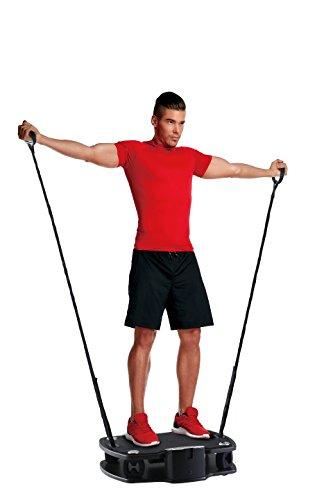 Body Coach Vibro Plate Premium Vibration Trainer Fitness 3D Shaper Board – Pedana Vibrante con Cinghie per allenare Tutto Il Corpo – Piastra Stabile oscillante Fino a 100 kg di Portata