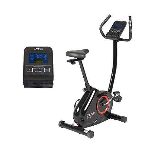 CARE FITNESS – Bicicletta motorizzata CV-5560-16 programmi, frenata magnetica, trasmissione a cinghia, 16 livelli di resistenza, massa di inerzia 7 kg, colore: nero