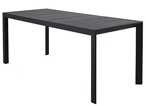 Chicreat T243 Tavolo da Giardino allungabile, Alluminio, Colore Carbone, 127-180 x 77 x 71,5 cm, Black, 180 x 77 x 71.5 cm