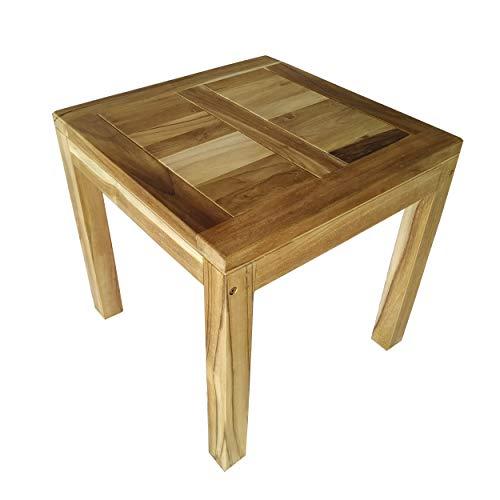 CHICREAT - Tavolo da pranzo per il giardino in legno di teak massiccio, circa 50 x 50 cm