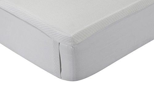 Classic Blanc - Topper / sovramaterasso viscoelastico, Memory Foam, media durezza, 90 x 190 altezza 5 cm, letto singolo. Tutte le misure