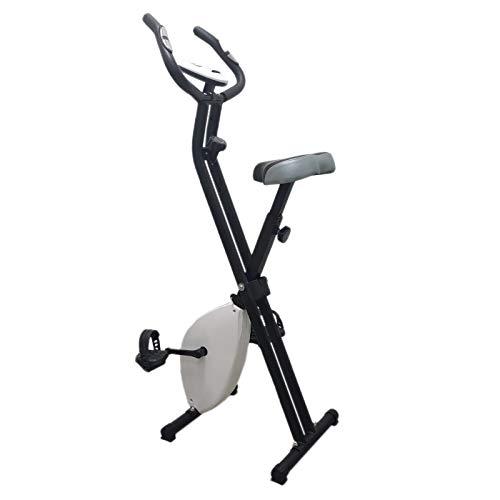 Cyclette Pieghevole Salvaspazio FFitness X-Bike F-Bike Training con Resistenza Regolabile e Display multifunzione, bianco