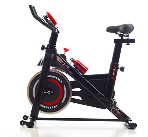 Cyclette spinning indoor, cyclette professionale fitness con cardiofrequenzimetro, pedali in alluminio, volano di inerzia e tanica d'acqua, portata fino a 150 kg