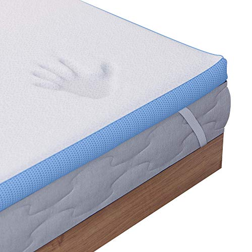 Dreamzie - Topper Memory Foam Singolo 180 x 200 cm - 5 cm di Schiuma ad Alta Densità 45 kg / m3 - Rivestimento Ipoallergenico in Bamboo - Made in Europa - Certificato Oeko-Tex® e CertiPUR