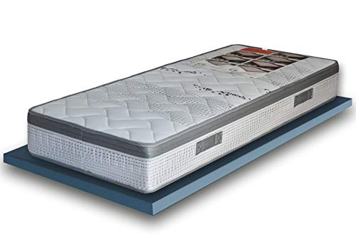 EcoDream - Materasso Singolo a Molle Rigido - Alto 25 cm, Ortopedico Anche per Pesi Importanti, Con Molle Bonnel Biconiche, Tessuto Thermico e Fascia Traspirante, Made in Italy (80 x 200)