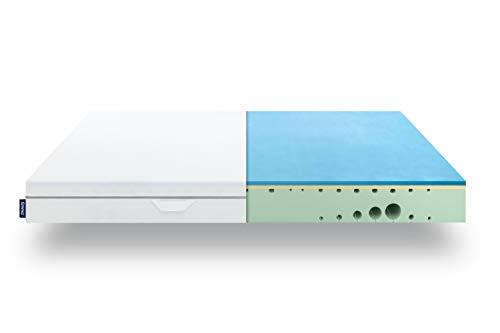 Emma One Materasso Singolo 90x190-7 Zone a Portanza Differenziata - Materasso Memory Foam Ergonomico - Ortopedico e Traspirante