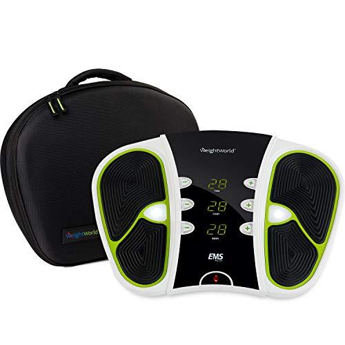 EMS Massaggiatore Piedi, Gambe per Circolazione, Elettrostimolatore Modello 2021 Ogni Età - Massaggiatore per Piedi 99 Intensità, Elettrodi Corpo, Borsa da Trasporto - Massaggiatore Piedi Elettrico