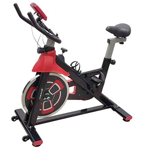 FFitness Indoor Spinning Bike Cycling Bicicletta per Allenamento in Casa con Tampone in Feltro, Cardio e Volano, Rosso, 13kg