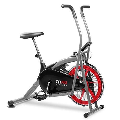 FITFIU Fitness BELI-150 Bicicletta Ellittica con Resistenza All'Aria, Sella Regolabile e Schermo Lcd Multifunzione, Macchina per il Fitness per L'Allenamento di Resistenza e Cardio