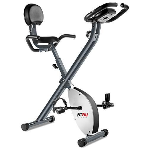 FITFIU Fitness BEST-220 Cyclette da Allenamento Pieghevole con Schienale Regolabile, Cardiofrequenzimetro e Volano da 8 Kg Regolabile a 8 Livelli di Sforzo, Allenamento Cardio e Fitness