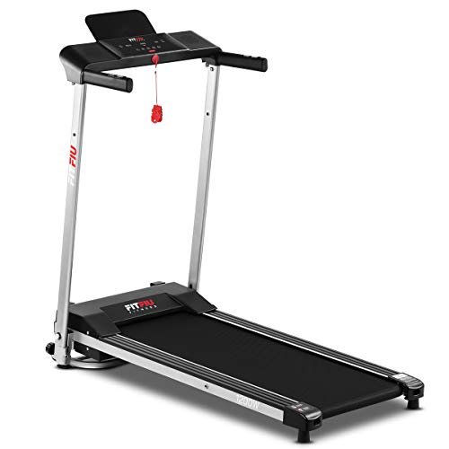FITFIU Fitness MC-160 Tapis Roulant Pieghevole Ultracompatto, Velocità Fino A 10Km/H e Superficie di Corsa di 36X100Cm, Macchina Fitness da 1200W, 12 Programmi di Allenamento e Cardiofrequenzimetro