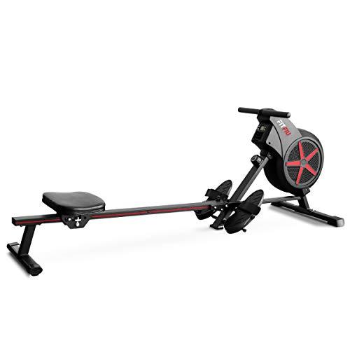 FITFIU Fitness RA-100 Vogatore Domestico Pieghevole, con Resistenza All'Aria per L'Allenamento Trasversale, Vogatore Pieghevole con Sedile Imbottito per il Fitness in Casa