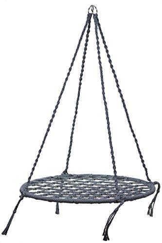 Fortuna F. Poltrona sospesa da 110 cm, stile etnico, da giardino, per esterni, seduta 80 cm