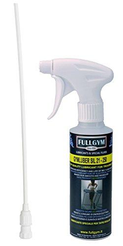 FULLGYM Gymluber SIL 21-250 ml. Lubrificante Speciale per Tapis roulant e Attrezzi Fitness Produttore di lubrificanti e liquidi Speciali