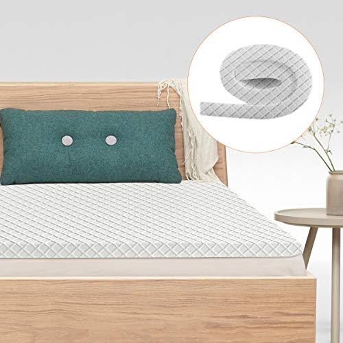 Gimify Topper Materasso in Memory Gel 90 x 200cm Confortevole 7cm Topper Memory Foam Coprimaterasso con Coprimaterasso Lavabile-Singolo