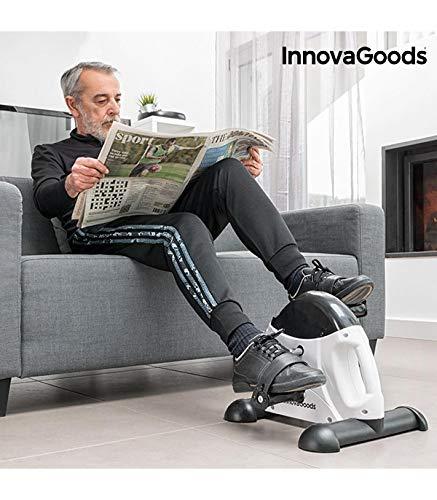 InnovaGoods IG117155 Pedalatore di Fitness, Unisex Adulto, Bianco/Nero, Taglia Unica