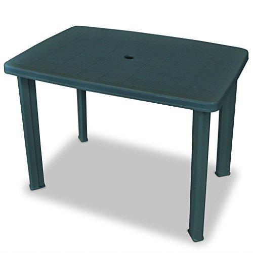 Ipae-Progarden S.P.A. 78008 Tavolo Rettangolare 100x70cm Faretto Verde, Resina