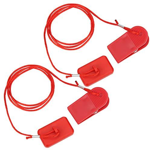 Keenso Interruttore di Sicurezza per Macchina da Corsa Blocco di Sicurezza Magnete Accessori Chiave per Tapis roulant Accessori per Fitness Generali Clip di Sicurezza Rettangolare (2 Pezzi)