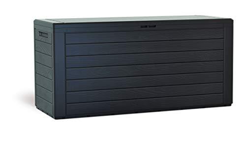 KG Kitgarden KitGarden-Cassapanca multiuso da esterno, capacità 116 x 44 x 55 cm, marrone, Multi Storage Box 280 l, 280 litri