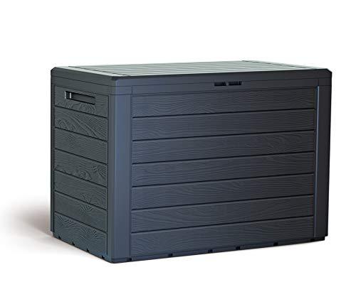 KG Kitgarden KitGarden-Cassapanca multiuso da esterno, capacità 78 x 44 x 55 cm, marrone, Multi Storage Box 190 L, 190 litri