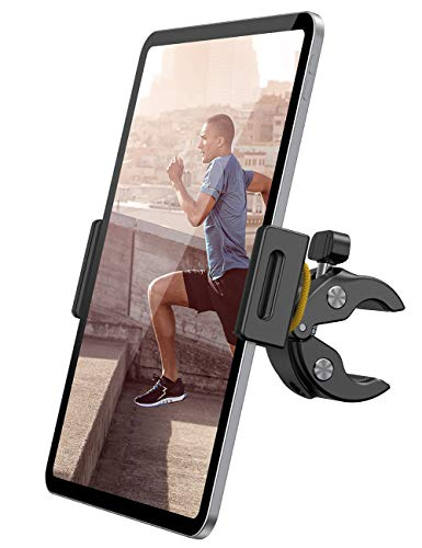 """Lamicall Supporto Tablet Cyclette Spinning Bicicletta - Universale Supporto per 4.7~13"""" Tablet come iPad Pro 9.7, 10.5, 12.9, iPad Air 2 3 4, iPad mini 2 3 4, iPhone, Samsung Tab, altri Tablets - Nero"""