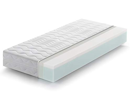 Marcapiuma - Materasso Singolo Memory 80x190 alto 20 cm - SUNRISE - H2 Medio Dispositivo Medico effetto massaggio Relax Ergonomico Rivestimento Sfoderabile 5 zone Antiacaro 100% Made in Italy