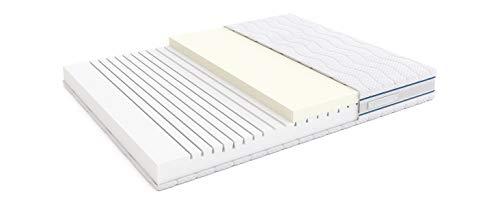 Marchio Amazon -Alkove - Materasso king a 7 zone in memory foam, con coprimaterasso Sanitized® sfoderabile, 180 x 200 cm
