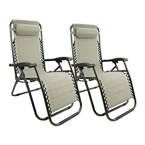 MaxxGarden – Set di sedie a sdraio per giardino, balcone e terrazzo, lettino prendisole pieghevole con schienale regolabile, 150 kg,