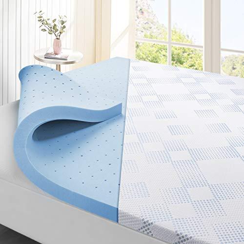 Maxzzz Topper per Materasso, Coprimaterasso in Memory Foam premium di 80x190cm Infuso in Rame con Fodera Rimovibile e Lavabile, Design Ventilato e Comodo, CertiPUR Antibatterica Antiacaro 5cm