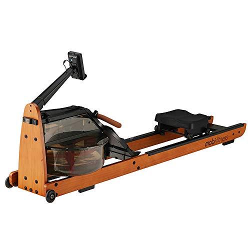 Mobi Fitness Vogatore per vogatore con vera acqua, Replica Upright Storage, design che non influisce sull'articolazione del ginocchio, ergonomico True Training