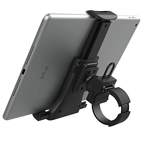 """MoKo Porta Cellulare da Bici, Supporto per Telefono da Bicicletta, Sostegno Phone o Tablet Manubrio Universale per Smartphone, Regolabile e 360° Rotabile 4"""" - 11"""" per iPhone iPad Samsung - Nero"""