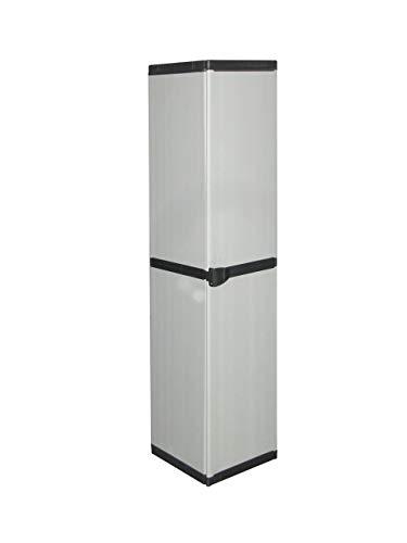 Mongardi 7813C04 - Armadio Modulare, 1 Anta, Grigio, 34 x 39.5 x 168 cm