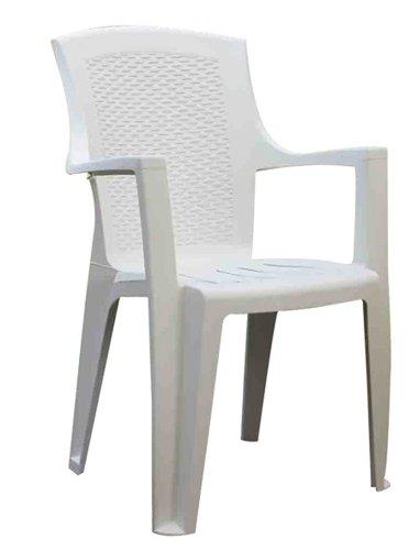 Progarden 87100 Eden Sedie di plastica Pieno/Retro Intrecciato, Bianco