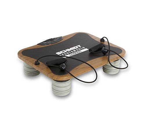 Schmidt Sportsworld Vib11 950279 Pedana vibrante con vibrazione triplana e elastici per esercizi