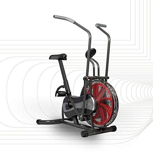 SportPlus Fan Bike, Assault Air Bike, Cyclette con Resistenza ad Aria e Freno Cinghia, Bici con Turbina Eolica, Allenamento Total Body; Peso Utente Max. 100 kg, Sicurezza Testata