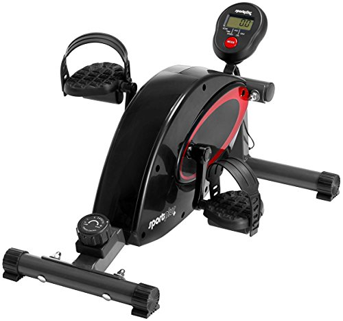SportPlus Pedaliera per Casa o Ufficio - con computer di allenamento - sistema di frenata magnetica di alta qualità e silenziosa - 8 livelli di resistenza - cyclette per anziani - sicurezza testata