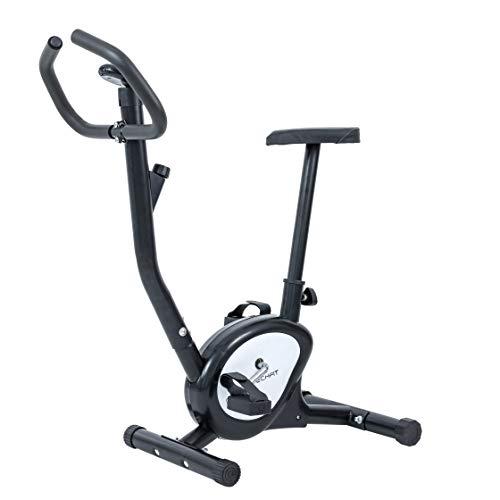 TechFit BB370 Cyclette Fitness, Resistenza Regolabile Cintura, 88 x 45 x 98 cm, per Perdita di Peso, Tonificazione del Corpo, Cardio, Allenamento, Uso Domestico, Grigio