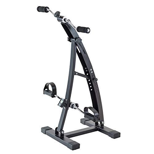 TechFit Mini Cyclette di Recupero con Doppia Manovella Regolabile, Adatta per l'Allenamento di Piedi e Braccia, Monitor LCD Incorporato