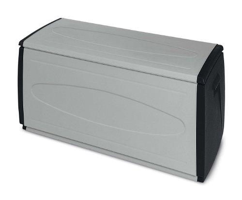 TERRY Box 120 Qblack Contenitore Multiuso, per Ambienti Interni ed Esterni, Scuro, 120x54x57 cm