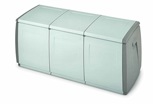 Terry in & out Box 140 Baule Multiuso, da Interno Esterno, Grigio, 139x54x57 cm