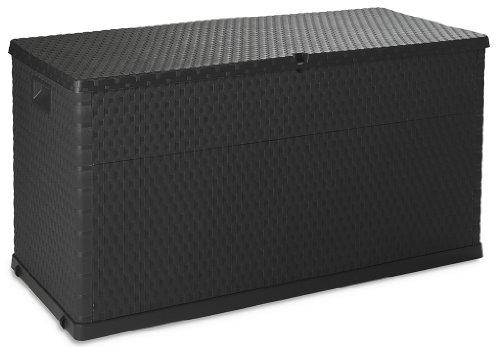 Toomax Z162R097 Multibox Rattan- Cassapanca da giardino, 420L, Antracite, 120 x 56 x 63 cm
