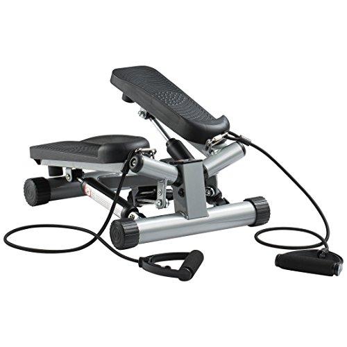 Ultrasport Swing Stepper con fasce di allenamento con computer wireless, per principianti ed esperti, piccolo e compatto, home trainer