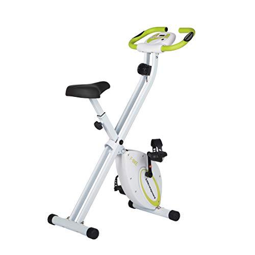 Ultrasport Unisex F-Bike Bicicletta di Esercizi, Display LCD, Peso Massimo 100 kg, Livelli di Resistenza Regolabili, con Sensori di Pulsazioni, Trainer per Atleti e Anziani Unisex Adulto, Verde