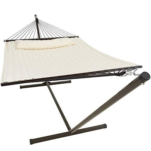 VITA5 - Amaca con telaio, fino a 2 persone/200 kg, 190 x 140, cuscino rimovibile, resistente alle intemperie e ai raggi UV
