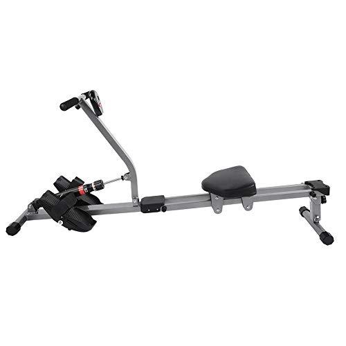 Vogatori per Casa Pieghevole, Rowing Machine con 12 Livelli di Resistenza, Vogatore Professionale per Fitness Allenamento a Casa con Display